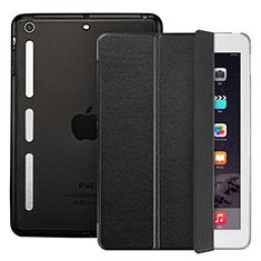 Carcasa de Cuero Cartera con Soporte L05 para Apple iPad Mini Negro