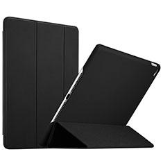 Carcasa de Cuero Cartera con Soporte L08 para Apple iPad Mini 4 Negro