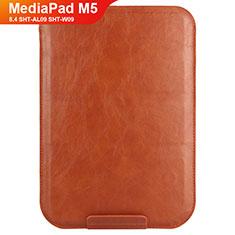 Carcasa de Cuero Cartera con Soporte L08 para Huawei MediaPad M5 8.4 SHT-AL09 SHT-W09 Marron