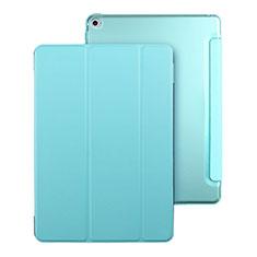 Carcasa de Cuero Cartera con Soporte para Apple iPad Mini 4 Azul Cielo