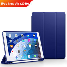 Carcasa de Cuero Cartera con Soporte para Apple iPad New Air (2019) 10.5 Azul