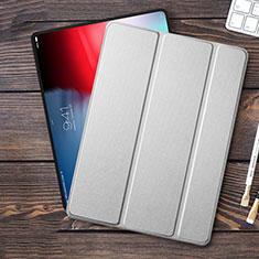 Carcasa de Cuero Cartera con Soporte para Apple iPad Pro 11 (2018) Plata