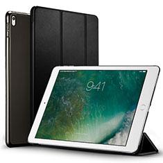 Carcasa de Cuero Cartera con Soporte para Apple iPad Pro 12.9 (2017) Negro