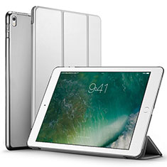 Carcasa de Cuero Cartera con Soporte para Apple iPad Pro 12.9 (2017) Plata