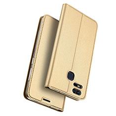 Carcasa de Cuero Cartera con Soporte para Asus Zenfone 3 Zoom Oro