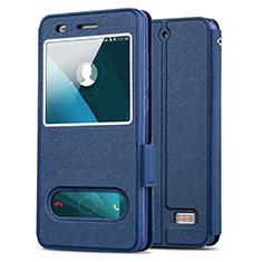 Carcasa de Cuero Cartera con Soporte para Huawei G Play Mini Azul