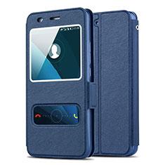 Carcasa de Cuero Cartera con Soporte para Huawei Honor 4A Azul