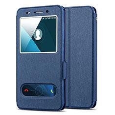 Carcasa de Cuero Cartera con Soporte para Huawei Honor 4X Azul