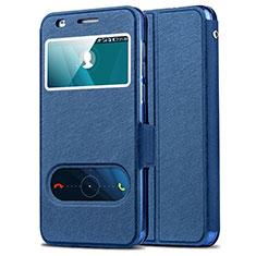 Carcasa de Cuero Cartera con Soporte para Huawei Honor 6 Azul