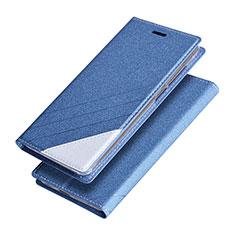 Carcasa de Cuero Cartera con Soporte para Huawei Honor V9 Azul