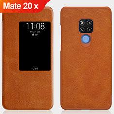 Carcasa de Cuero Cartera con Soporte para Huawei Mate 20 X 5G Marron