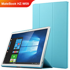 Carcasa de Cuero Cartera con Soporte para Huawei MateBook HZ-W09 Azul