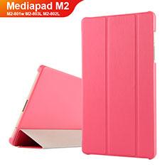 Carcasa de Cuero Cartera con Soporte para Huawei Mediapad M2 8 M2-801w M2-803L M2-802L Rojo