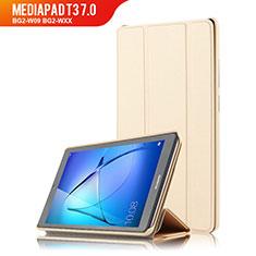 Carcasa de Cuero Cartera con Soporte para Huawei MediaPad T3 7.0 BG2-W09 BG2-WXX Oro