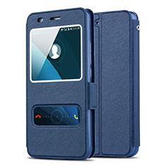 Carcasa de Cuero Cartera con Soporte para Huawei Y6 Azul