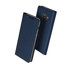 Carcasa de Cuero Cartera con Soporte para Samsung Galaxy A6 (2018) Azul