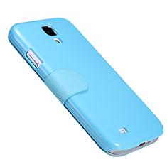 Carcasa de Cuero Cartera con Soporte para Samsung Galaxy S4 IV Advance i9500 Azul