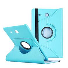 Carcasa de Cuero Cartera con Soporte para Samsung Galaxy Tab E 9.6 T560 T561 Azul