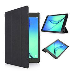 Carcasa de Cuero Cartera con Soporte para Samsung Galaxy Tab S2 8.0 SM-T710 SM-T715 Negro