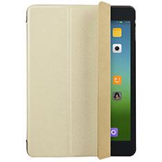 Carcasa de Cuero Cartera con Soporte para Xiaomi Mi Pad 3 Oro