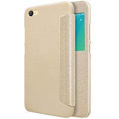 Carcasa de Cuero Cartera con Soporte para Xiaomi Redmi Note 5A Standard Edition Oro