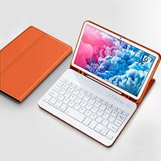 Carcasa de Cuero Cartera con Teclado para Huawei MatePad 10.8 Naranja