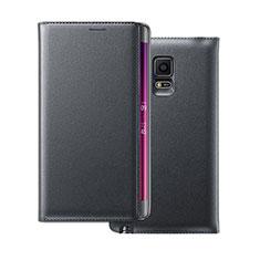 Carcasa de Cuero Cartera para Samsung Galaxy Note Edge SM-N915F Negro