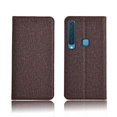 Carcasa de pano Cartera con Soporte Carcasa para Samsung Galaxy A9s Marron