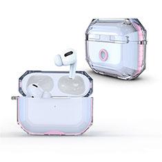 Carcasa Dura Cristal Plastico Funda Rigida Transparente H01 para Apple AirPods Pro Rosa