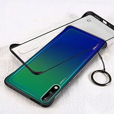 Carcasa Dura Cristal Plastico Funda Rigida Transparente H01 para Huawei Enjoy 10 Negro