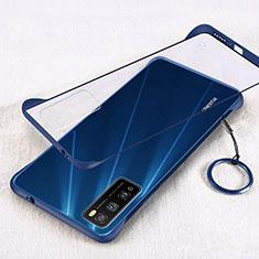 Carcasa Dura Cristal Plastico Funda Rigida Transparente H01 para Huawei Enjoy 20 Pro 5G Azul