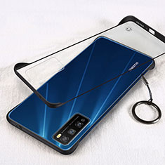 Carcasa Dura Cristal Plastico Funda Rigida Transparente H01 para Huawei Enjoy Z 5G Negro