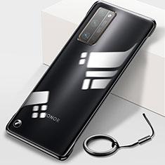 Carcasa Dura Cristal Plastico Funda Rigida Transparente H01 para Huawei Honor 30 Pro+ Plus Negro