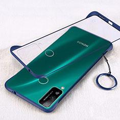 Carcasa Dura Cristal Plastico Funda Rigida Transparente H01 para Huawei Honor Play4T Azul