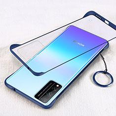 Carcasa Dura Cristal Plastico Funda Rigida Transparente H01 para Huawei Honor Play4T Pro Azul