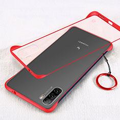 Carcasa Dura Cristal Plastico Funda Rigida Transparente H01 para Huawei Mate 40 Lite 5G Rojo