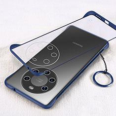 Carcasa Dura Cristal Plastico Funda Rigida Transparente H01 para Huawei Mate 40 Pro+ Plus Azul