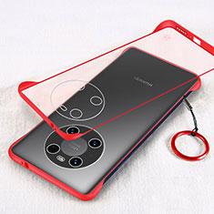 Carcasa Dura Cristal Plastico Funda Rigida Transparente H01 para Huawei Mate 40 Pro Rojo
