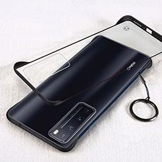Carcasa Dura Cristal Plastico Funda Rigida Transparente H01 para Huawei Nova 7 Pro 5G Negro