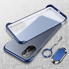 Carcasa Dura Cristal Plastico Funda Rigida Transparente H01 para Huawei Nova 8 5G Azul