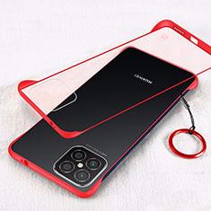 Carcasa Dura Cristal Plastico Funda Rigida Transparente H01 para Huawei Nova 8 SE 5G Rojo