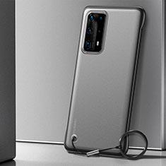 Carcasa Dura Cristal Plastico Funda Rigida Transparente H01 para Huawei P40 Pro+ Plus Negro