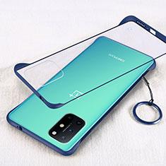 Carcasa Dura Cristal Plastico Funda Rigida Transparente H01 para OnePlus 8T 5G Azul