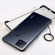 Carcasa Dura Cristal Plastico Funda Rigida Transparente H01 para Oppo A72 5G Negro