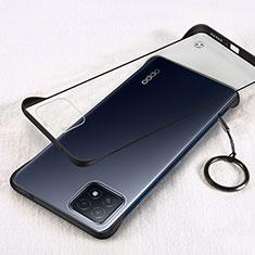 Carcasa Dura Cristal Plastico Funda Rigida Transparente H01 para Oppo A73 5G Negro