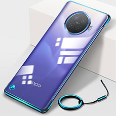 Carcasa Dura Cristal Plastico Funda Rigida Transparente H01 para Oppo Ace2 Azul