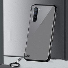 Carcasa Dura Cristal Plastico Funda Rigida Transparente H01 para Oppo Find X2 Lite Negro