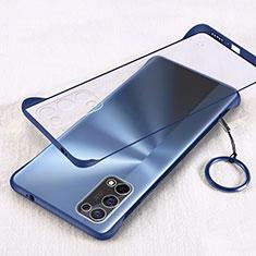 Carcasa Dura Cristal Plastico Funda Rigida Transparente H01 para Oppo K7x 5G Azul
