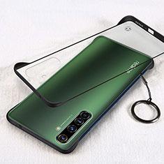 Carcasa Dura Cristal Plastico Funda Rigida Transparente H01 para Realme X50 Pro 5G Negro