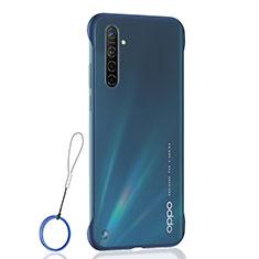 Carcasa Dura Cristal Plastico Funda Rigida Transparente H01 para Realme XT Azul